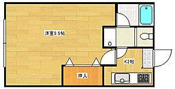 マンションイレブン[4階]の間取り