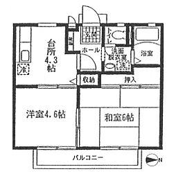 グランドール江北[102号室号室]の間取り