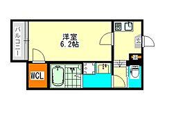 愛知県名古屋市中川区広住町の賃貸アパートの間取り