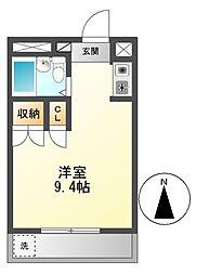 シャルム大堀[1階]の間取り