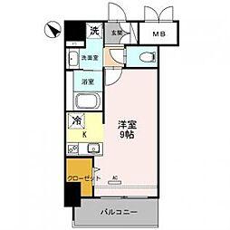 ラルーチェ北梅田[3階]の間取り