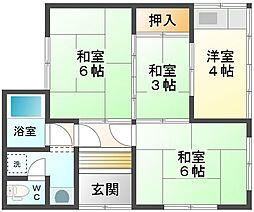 [一戸建] 愛媛県新居浜市平形町 の賃貸【/】の間取り