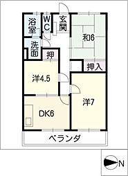 コーポ和幸苑[2階]の間取り