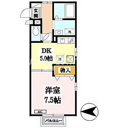 メゾンド花[2階]の間取り