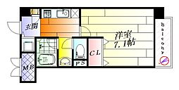 大阪府吹田市千里丘中の賃貸マンションの間取り
