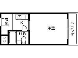 シャルムタガワ[2階]の間取り
