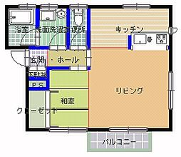 Mハウス那珂[202号室]の間取り
