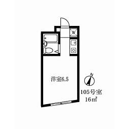 トキワマンション[105号室]の間取り