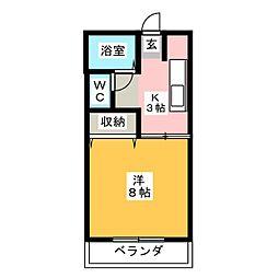 カーサ谷田[2階]の間取り