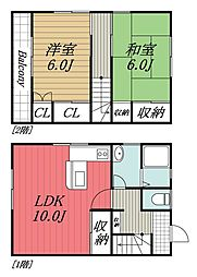 [テラスハウス] 千葉県千葉市緑区あすみが丘2丁目 の賃貸【/】の間取り