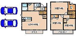 兵庫県神戸市西区春日台8丁目の賃貸アパートの間取り