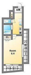 メゾンナカムラ北堀江[9階]の間取り