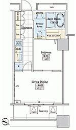 JR山手線 大塚駅 徒歩10分の賃貸マンション 3階1LDKの間取り