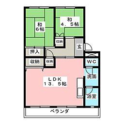 サンシャイン美合II[2階]の間取り