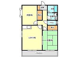 兵庫県神戸市垂水区霞ケ丘3丁目の賃貸アパートの間取り