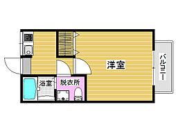 ロッジイン片江[2階]の間取り