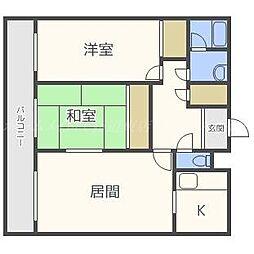 カネ山マンション[7階]の間取り
