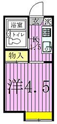 キャピタル中川A[1階]の間取り