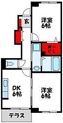 福岡県宗像市赤間3丁目の賃貸アパートの間取り