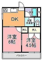 見川ハイツ[101号室]の間取り
