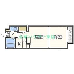 北海道札幌市東区北二十二条東1丁目の賃貸マンションの間取り