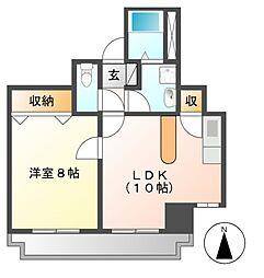 ガーデンコート新栄[3階]の間取り