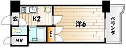ビブレマンション城野[305号室]の間取り