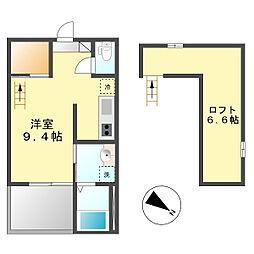 ベガ新富(Vaga新富)[2階]の間取り