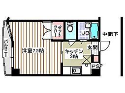 宮城県仙台市太白区越路の賃貸マンションの間取り