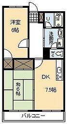 第2大塚ビル[206号室]の間取り