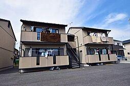 群馬県高崎市飯塚町の賃貸アパートの外観