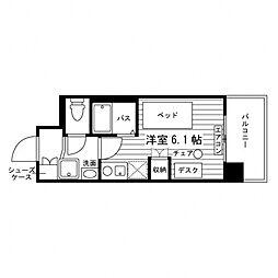学生会館 エル・セレーノ高松中央[食事付き] 6階ワンルームの間取り