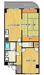 アメニティK&S PART2[4階]の間取り