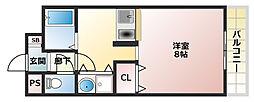 コスモセブン[3階]の間取り