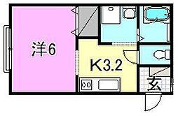 椿荘[201 号室号室]の間取り