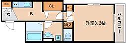 兵庫県神戸市長田区久保町4丁目の賃貸アパートの間取り