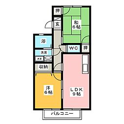 NEWセジュール三輪 B棟[1階]の間取り