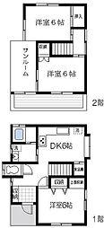 [タウンハウス] 東京都足立区六木1丁目 の賃貸【東京都 / 足立区】の間取り