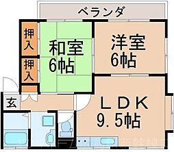広島県広島市東区温品3丁目の賃貸アパートの間取り