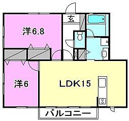 ピアコート和泉[102 号室号室]の間取り