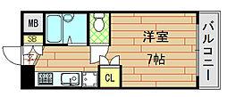 ノアーズアーク長田21[705号室]の間取り