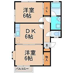 エミネンス鵠沼(エミネンスクゲヌマ)[2階]の間取り