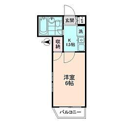 Flat JUN[2階]の間取り