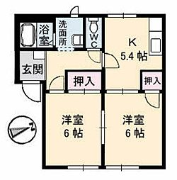 リバティ松本 A棟[A102号室]の間取り