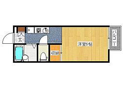 兵庫県姫路市飾磨区下野田4丁目の賃貸アパートの間取り