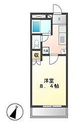 愛知県名古屋市千種区赤坂町4丁目の賃貸マンションの間取り