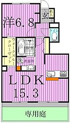千葉県柏市酒井根7丁目の賃貸アパートの間取り