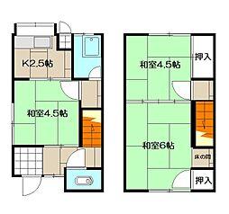 大場アパート[8号室]の間取り