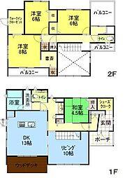 [一戸建] 秋田県秋田市桜台2丁目 の賃貸【/】の間取り