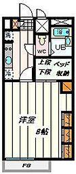 埼玉県さいたま市見沼区東大宮2丁目の賃貸アパートの間取り